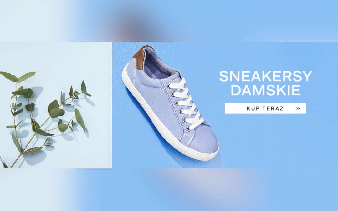 Modne sneakersy damskie