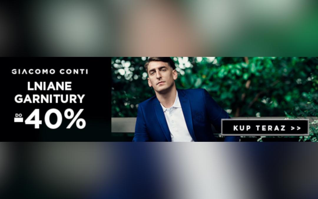 Lniane garnitury do -40% taniej