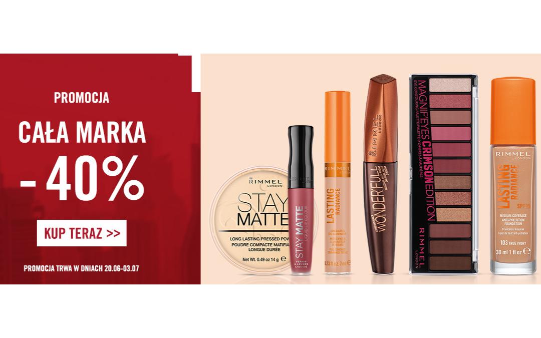 -40% na kosmetyki Rimmel