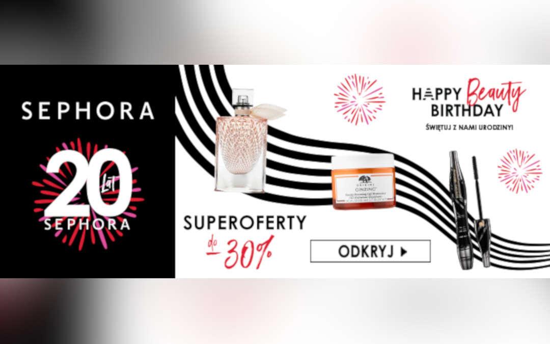 Do -30% rabatu z okazji urodzin Sephora!