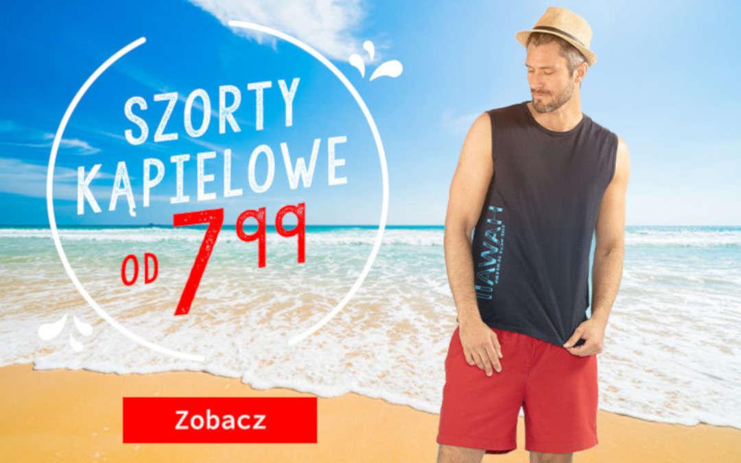 Szorty kąpielowe już od 7,99 zł!