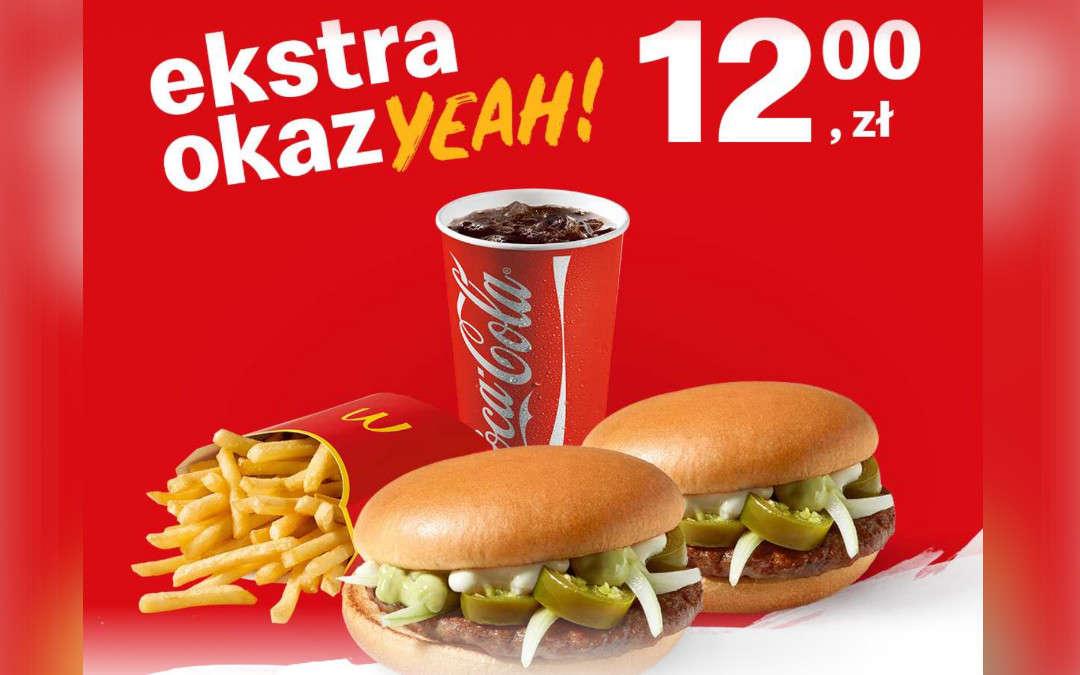 2 x Jalapeno Burger + średnie frytki + średni napój