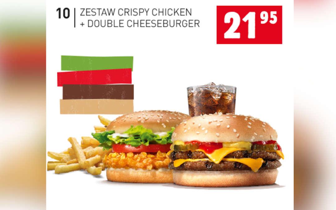 Zestaw Crispy Chicken + Double Cheeseburger