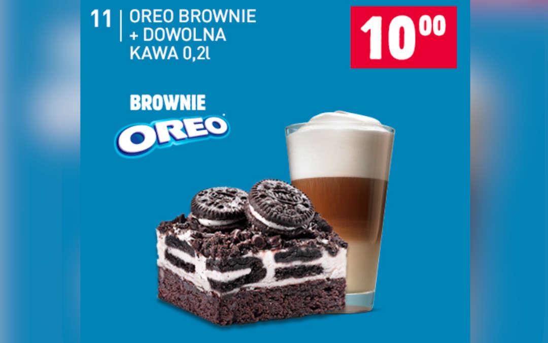 Oreo Brownie + Dowolna kawa 0,2l