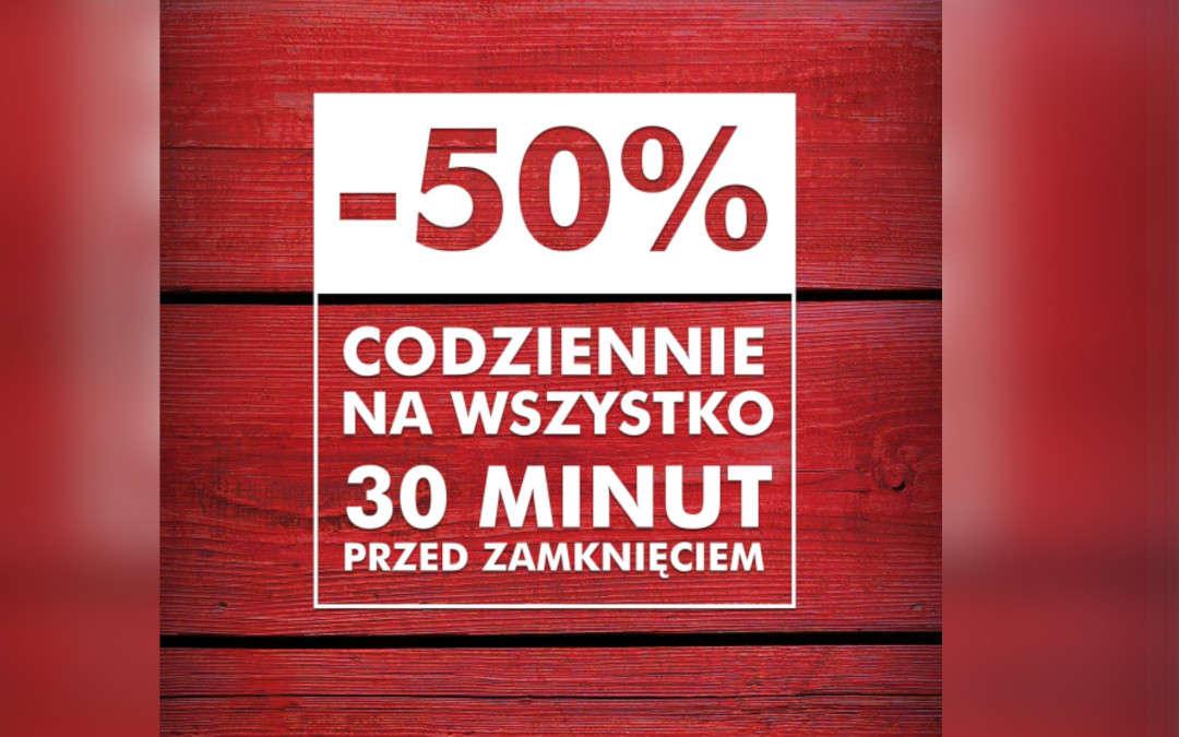 Wszystkoaż do -50% taniej 30 minut przed zamknięciem!