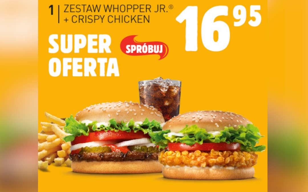 Zestaw Whooper Jr. + Crispy Chicken