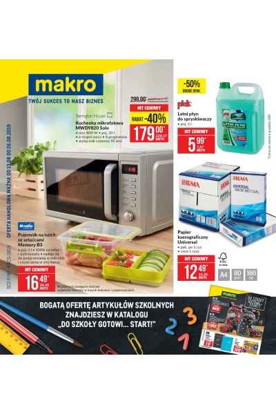 Gazetka MAKRO Cash and Carry ważna do 2019-08-26