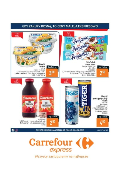 Gazetka Carrefour ważna do 2019-08-26