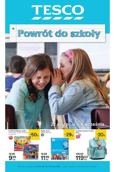 Gazetka Tesco ważna do 2019-08-28
